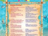 Plakat z imprezami Wakacje z OSiR 2020